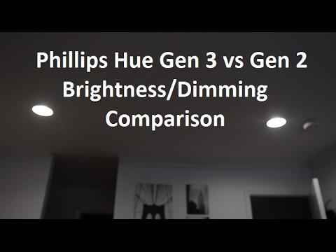 Phillips Hue Gen 3 vs Gen 2 Brightness/Dimming Comparison