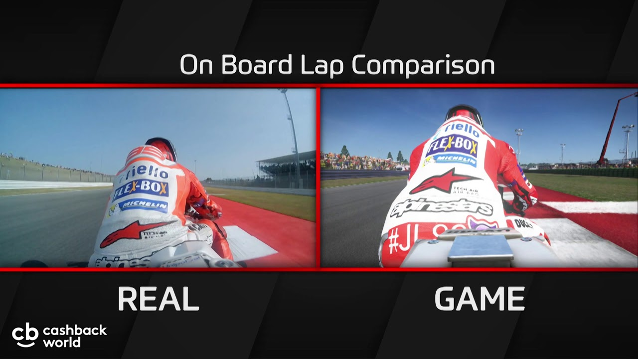 Lorenzo Ducati Comparison Lap Motogp17 Game Vs Motogp Real Youtube