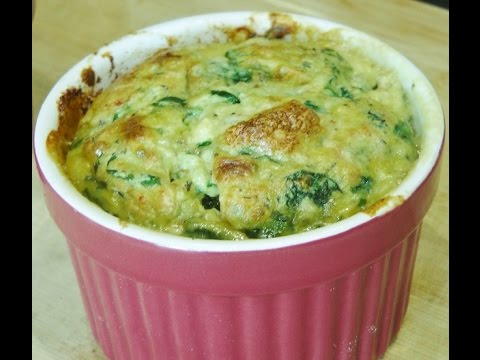 spinach and cottage cheese souffle - youtube