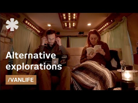 Converted van as full-time home for nomadic Canadian couple