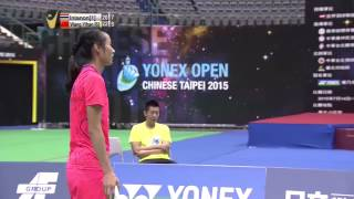 Yonex Open Chinese Taipei 2015 | Badminton SF M2-WS | R. Intanon vs Wang Y.H.