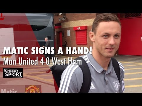 Matic Signs a Hand   Lukaku Given a Pillow to Cushion His Touch   Man United 4 - 0 West Ham
