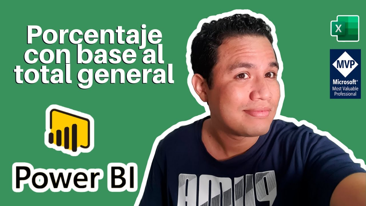 ✌ Sacar porcentaje con base al total general en POWER BI | ExcelAprende