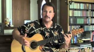 Grandfathers Clock Free Guitar Lesson. Fingerpicking Solo