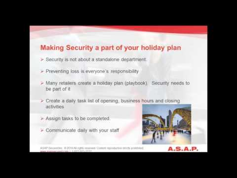 WEBINAR: Retail Security – Gearing up for the Holiday Season