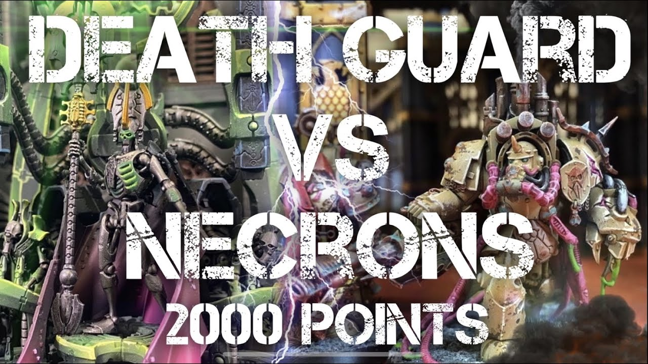 NEW! DEATH GUARD vs NECRONS 2000 point Warhammer 40k Battle report
