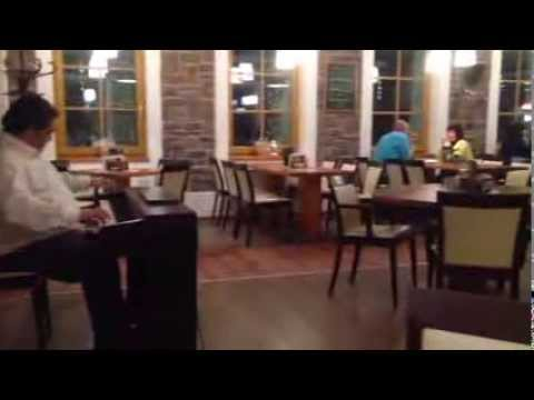 Live piano music in restaurant Krusnohorsky Dvur