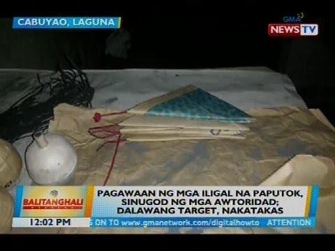 Pagawaan ng mga iligal na paputok, sinugod ng mga awtoridad