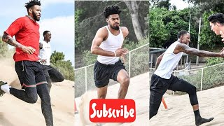 Lakers puttin' in work  javale mcgee caldwell pope Quinn cook at Manhattan Beach sand Dune