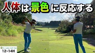【ゴルフ】なぜか練習場通りに振れない…そんな方に知って欲しい、景色とスイング(人体)の関係。【コースマネジメント ドライバー アプローチ】
