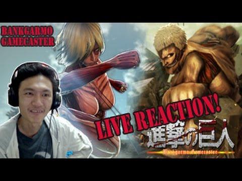 อัพเดท!ไททันเกราะ+ไททัน 60 เมตร! และไททันปริศนา! ;w;!:-Attack on Titan Game Reaction!