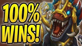 *100%* WINRATE WITH GONK OTK DRUID! | Gonk, the Raptor | Rastakhan