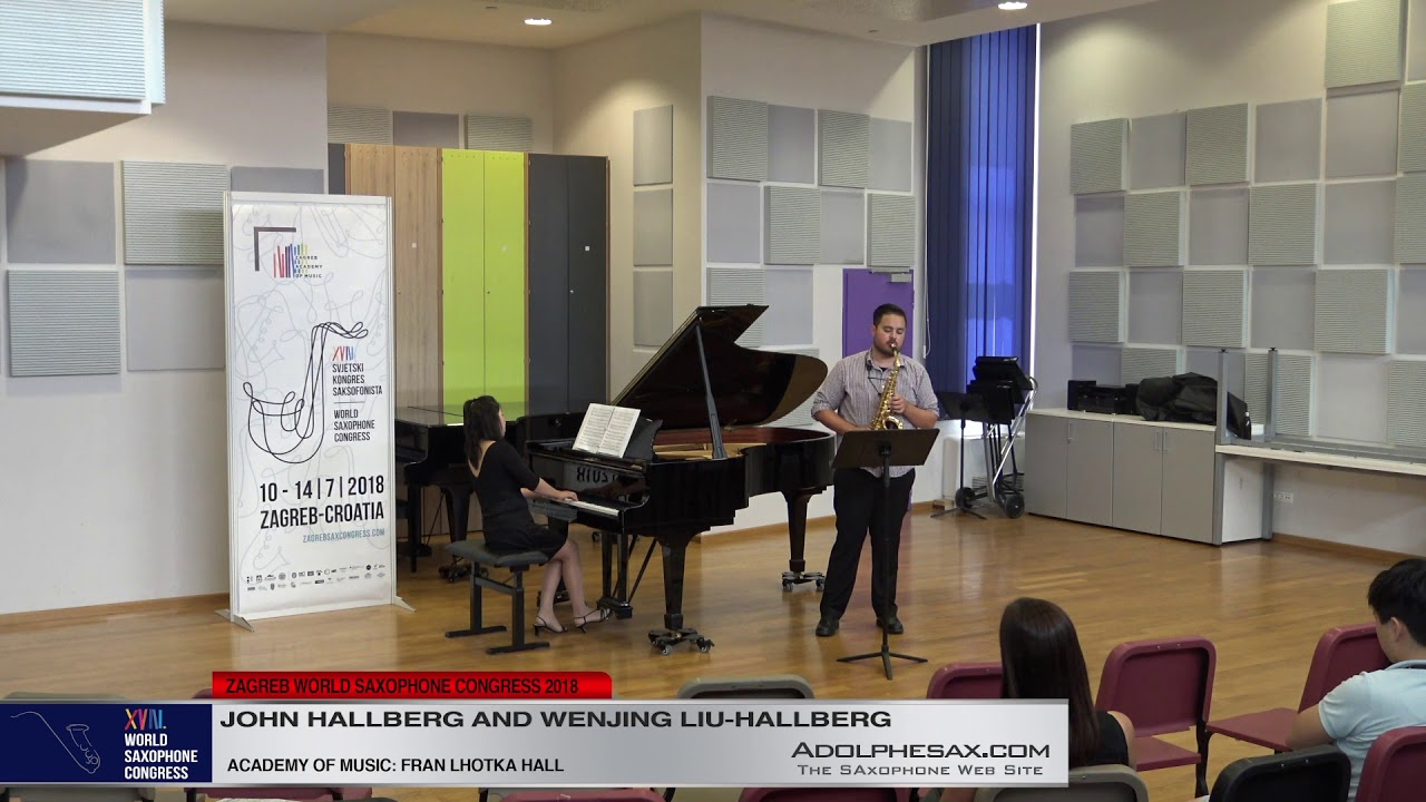 Circadia by Adrienne Albert   John Hallberg & Wenjing Liu Hallberg   XVIII World Sax Congress 2018 #