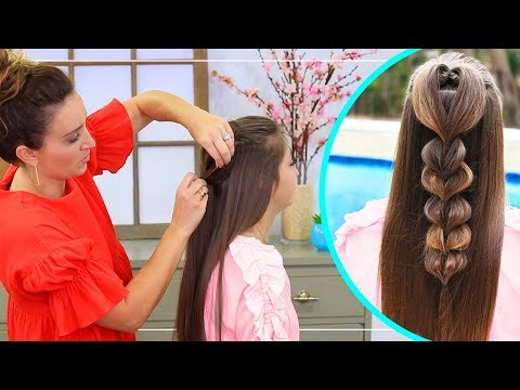 Rope Twisted Heart Cute Girls Hairstyles Youtube