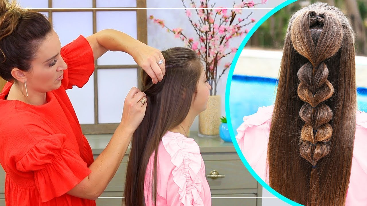 Heart Pull Through Braid | 2018 Valentineu0027s Day Hairstyles