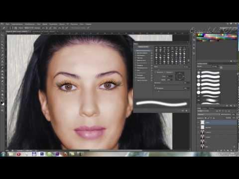 Коррекция лица в photoshop. Нанесение макияжа photoshop