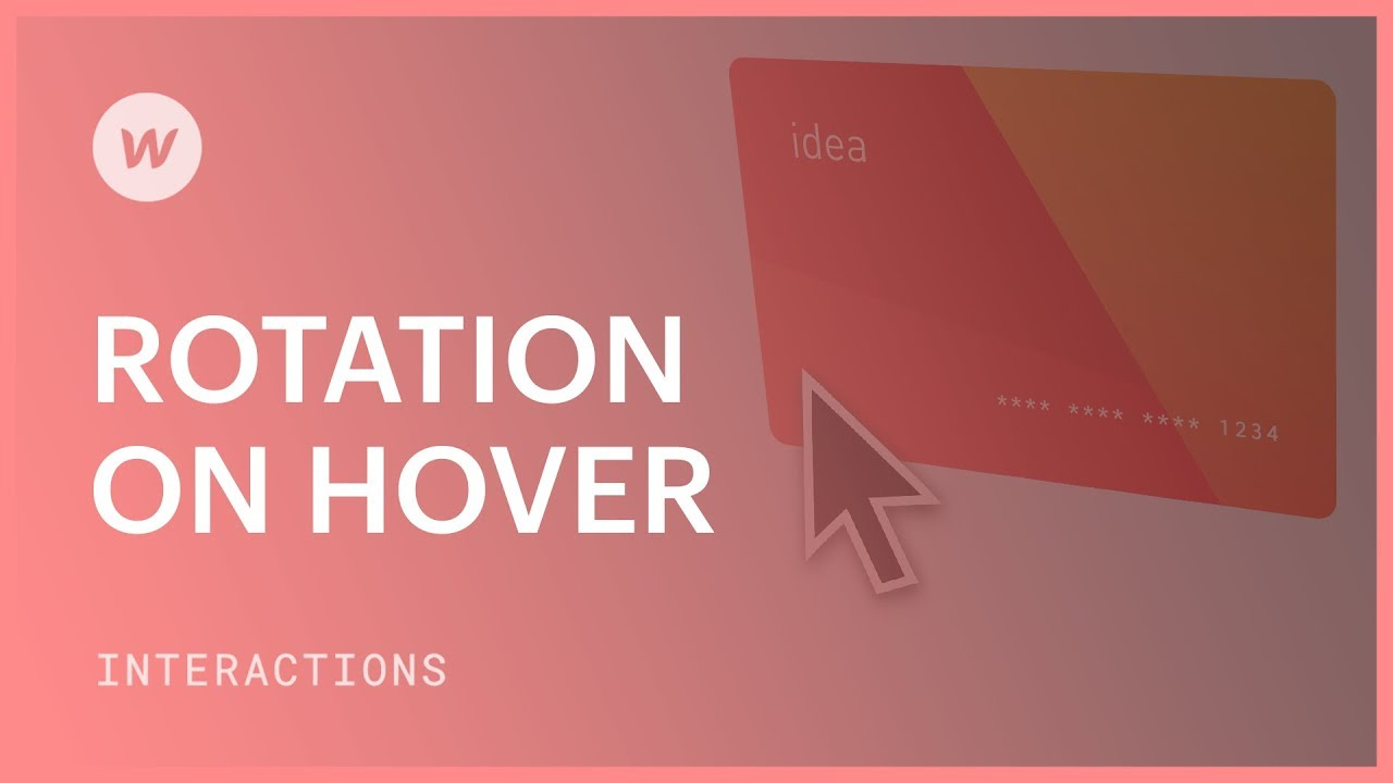 Rotation on hover - Webflow interactions and animations tutorial