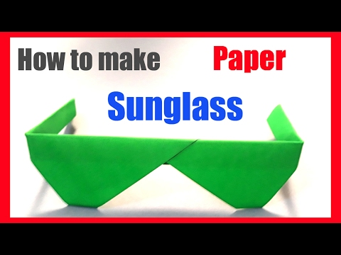 How To Make Origami Paper Sunglass || Paper Toys Tutorial & Craft Ideas By Art Collection