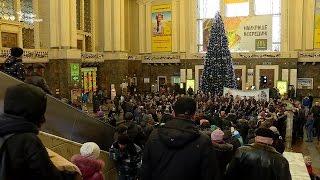 Різдвяні колядки на столичному залізничному вокзалі