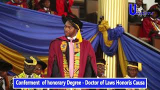 University of Ghana confers Honorary Degree (Doctor of Laws Honoris Causa)on Prof.Emmanuel Akeampong