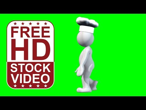 FREE HD video backgrounds compilation - animated cartoon character wearing various hats walking