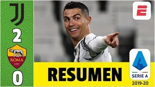 Juventus 2-0 AS Roma. Cristiano Ronaldo anotó golazo y mete presión al AC Milan y al Inter | Serie A