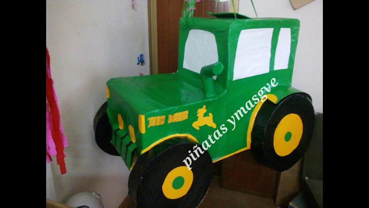 Como decorar una piñata de tractor YouTube