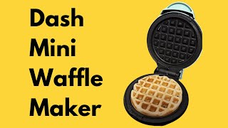 Watch me make a waffle using the Dash Mini Waffle Maker from Amazon