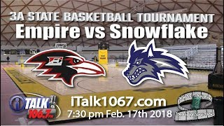Empire vs Snowflake 3A State Basketball Round 2 Full Game thumbnail