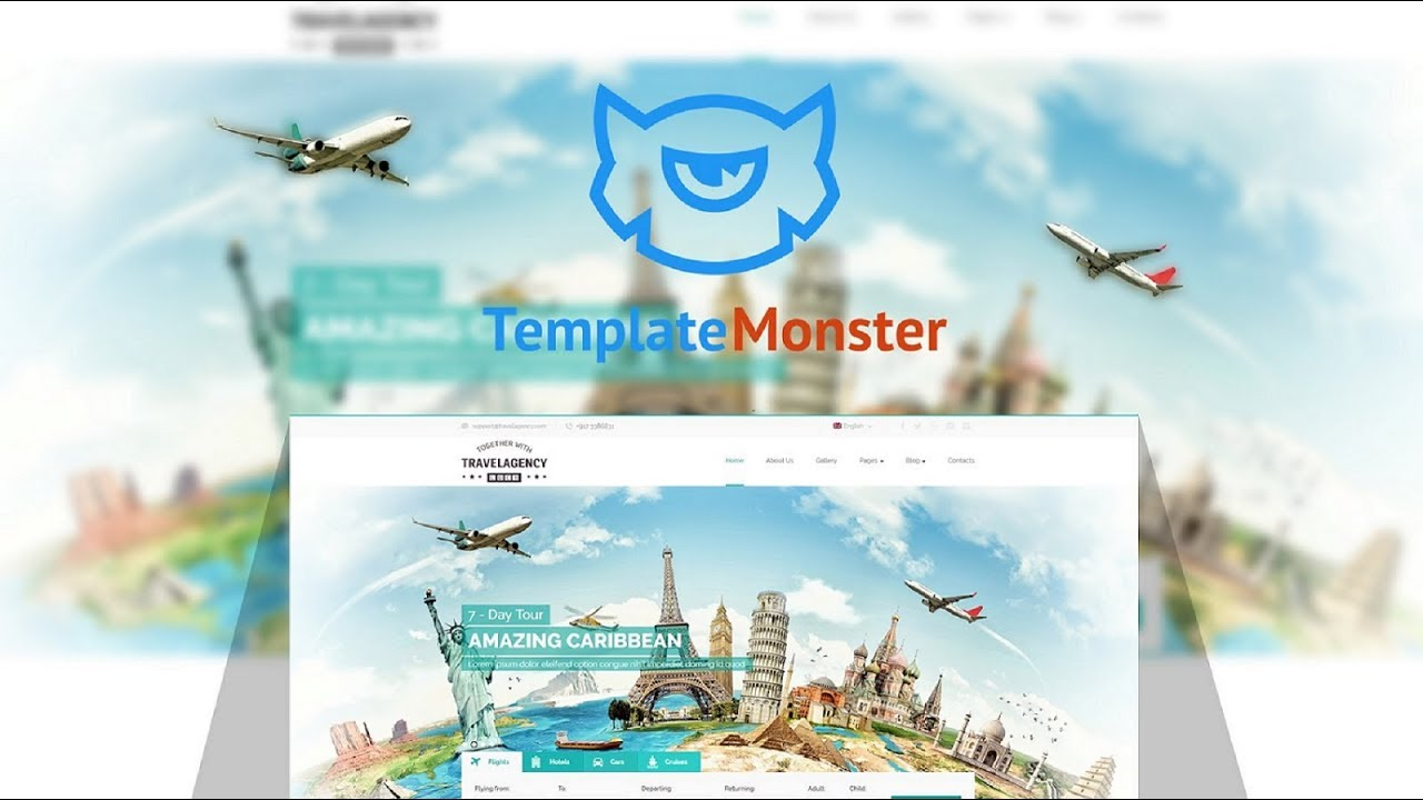 travel agency website template  65337
