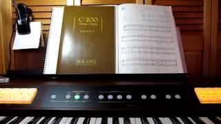 I played Aura Lee in church organ sound with Roland C-200. Aura Lee...