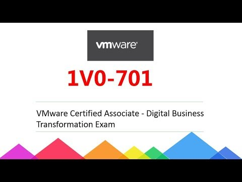 1V0-701 VMware Certified Associate - Digital Business Transformation ...