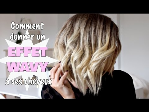comment donner un effet wavy ses cheveux youtube. Black Bedroom Furniture Sets. Home Design Ideas