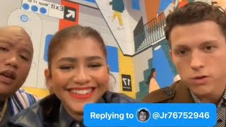 Tom Holland,Zendaya,Jacob Batalon answering questions on Twitter (All Questions) #AskSpiderMan Video