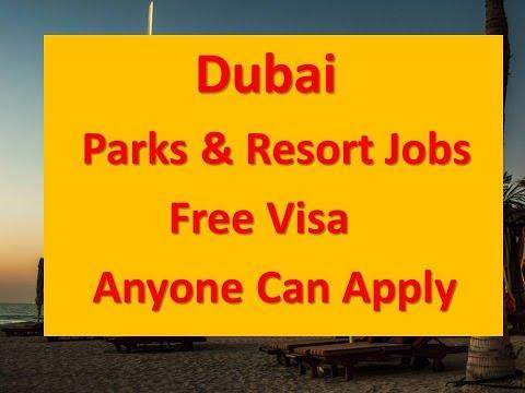 Dubai Parks & Resort Jobs With Free Visa Anyone Can Apply Hindi|Urdu.