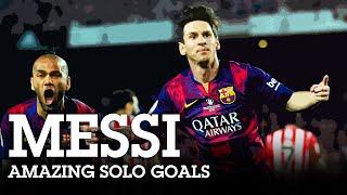 Lionel Messi - AMAZING SOLO GOALS