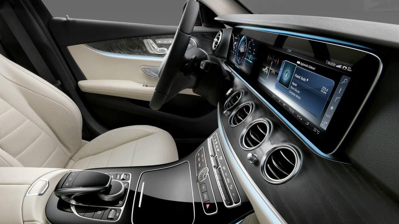 2017 mercedes benz e class interior design youtube for Mercedes benz e class interior
