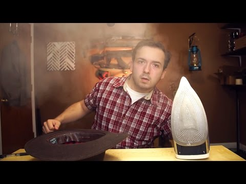 Shaping A Fedora Hat With A Clothing Iron