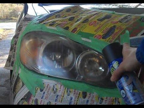 Tint spray for headlights