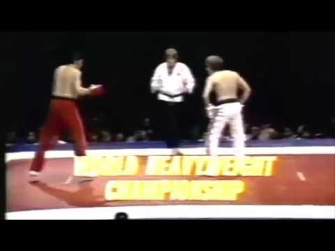 Joe Lewis beats by KO in the 2nd Franc BrodarYU. Fullcontact. PKA title. 14.09.1974. LosAngeles
