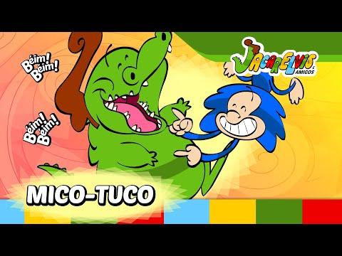 ♫♪ DIVIRTA-SE: Clipe Mico-Tuco  | Jacarelvis e Amigos (vol. 01): Seus filhos gostam de uma divertida cosquinha? O Mico-Tuco te cutuca nesse rockabilly que não vai deixar ninguém parado! Esse simpático clipe infantil em animação está no DVD do Jacarelvis volume 01.  CD e DVD do Jacarelvis a venda em: http://www.jacarelvis.com.br http://som.li/1vjDFxw  Clipes para Android: http://goo.gl/HJo9Kv Clipes para Iphone e iPad: http://goo.gl/29T3fh  Músicas no iTunes: http://som.li/1wFR41W Clipes no iTunes: http://goo.gl/eexXuc Ouça na Deezer: http://som.li/1rrDtv4 Ouça no Spotify: http://goo.gl/72SftJ  Atividades Educativas do Jacarelvis em: http://www.jacarelvis.com.br/atividades-educativas-do-jacarelvis.htm Site do Jacarelvis: http://www.jacarelvis.com.br/ Facebook: https://www.facebook.com/Jacarelvis Canal no Youtube: http://www.youtube.com/user/Jacarelvis  Inscreva-se nos sorteios em: http://www.jacarelvis.com.br/sorteios/  Jacarelvis e Amigos ® - Todos os direitos reservados Realização e animação: Animar Estúdio / http://www.animarestudio.com.br