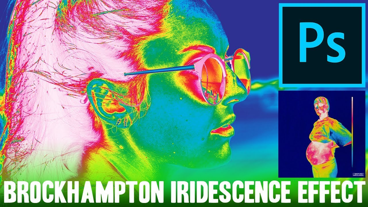 BROCKHAMPTON iridescence Album Art Effect - Adobe Photoshop Tutorial