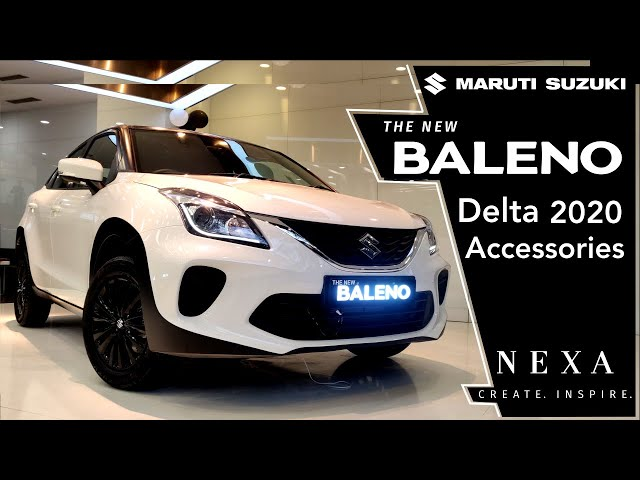 Matte Black & White Dual Tone Baleno Delta 2020- Accessories