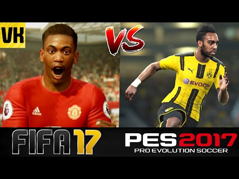 FIFA 17 VS PES 2017 - IN GAME PLAYER FACES COMPARISON! (MESSI, NEYMAR, AUBAMEYANG etc)