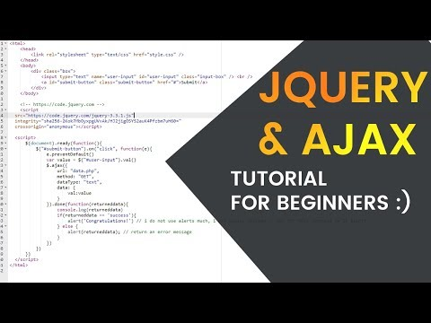 Easy JQuery & AJAX Tutorial For Beginners (JavaScript, PHP, HTML, CSS)