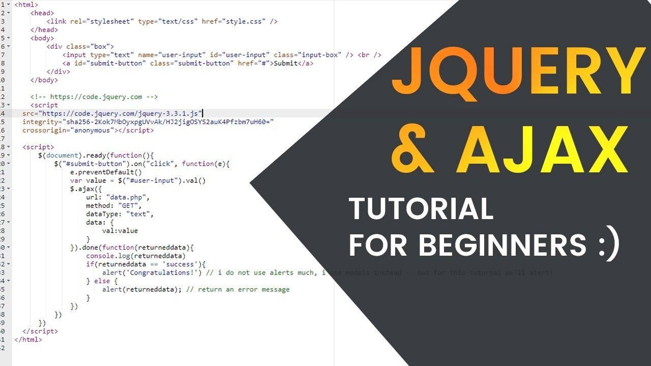Easy jQuery & AJAX Tutorial for Beginners (JavaScript, PHP ...