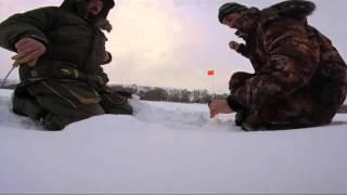 Зимняя рыбалка на Оке часть 3