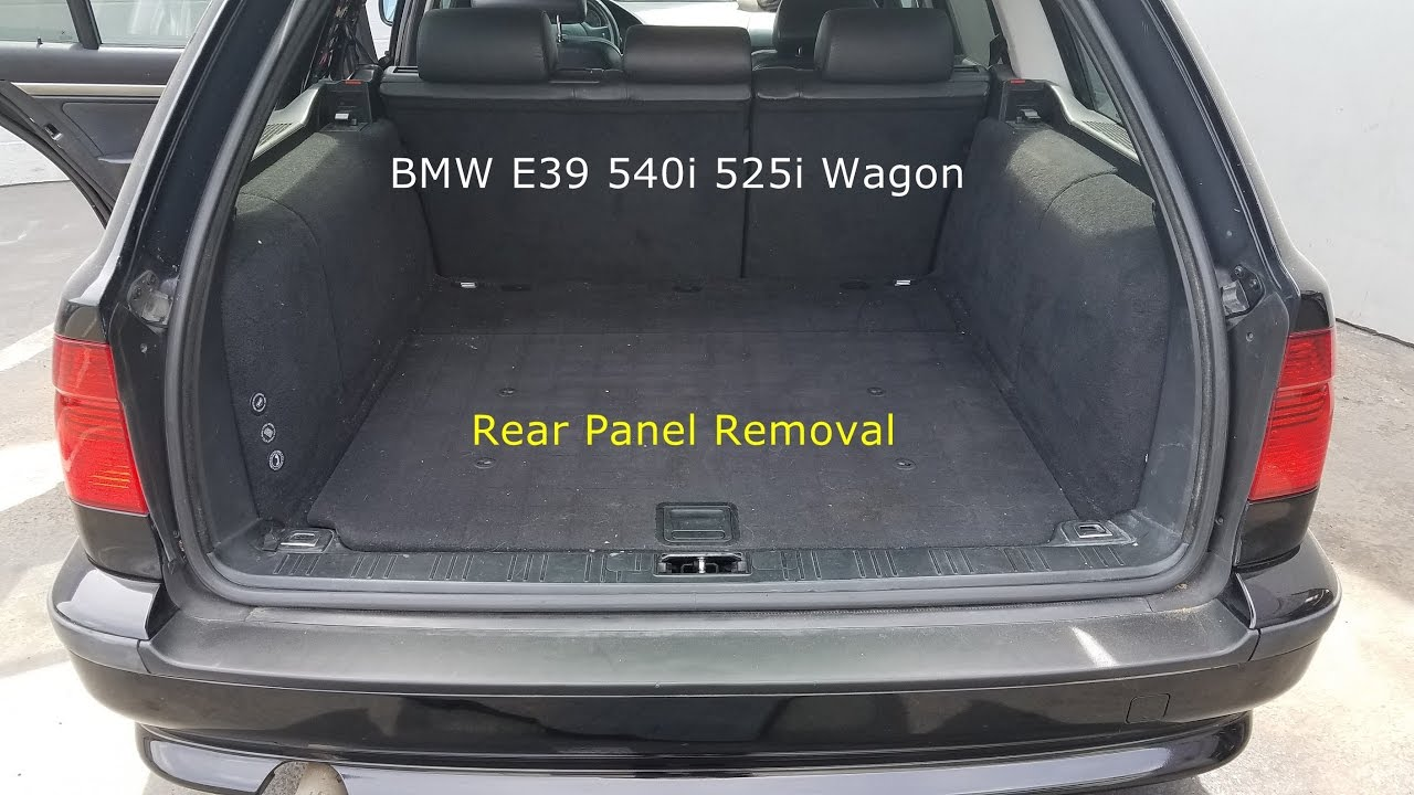 Rear Panel Cover Removal BMW E39 540i 528i 525i Wagon  Touring