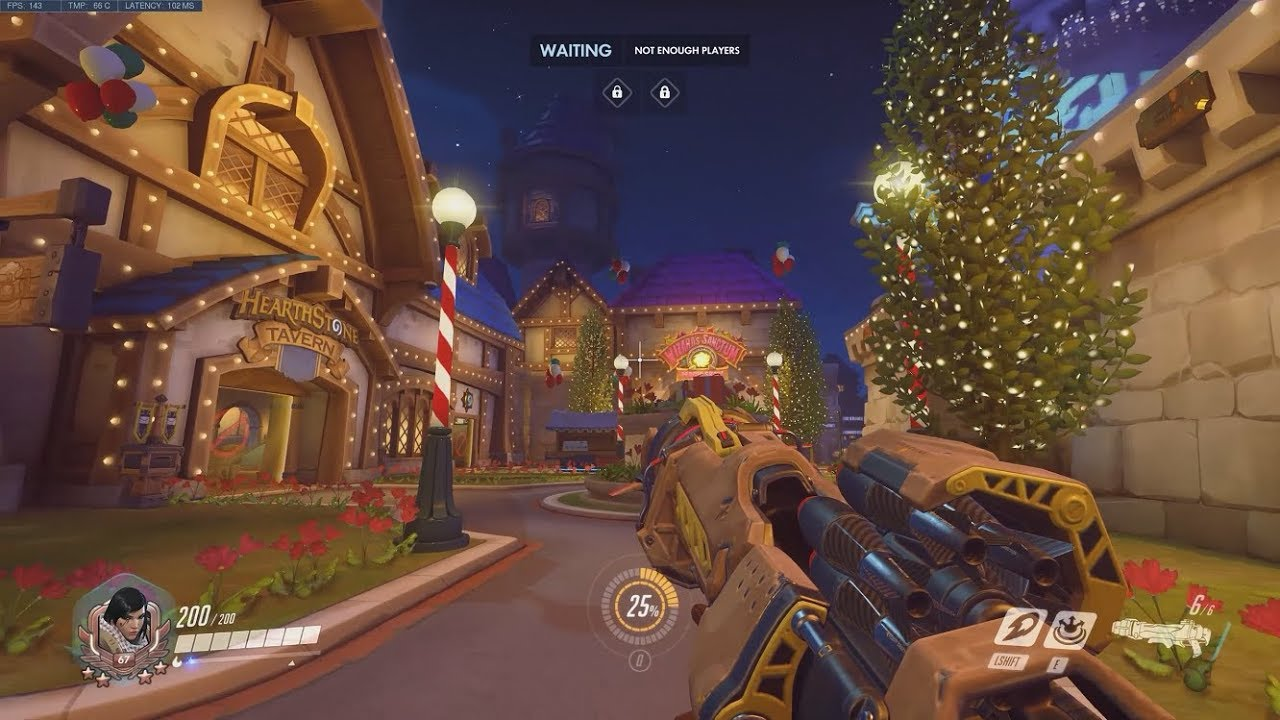 Overwatch Exploring The Christmas Blizzard World Map Youtube