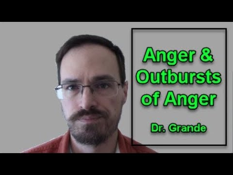 Mechanisms Of Anger And Outbursts Of Anger